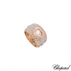 Chopard Tri-Colour Gold Happy Diamonds Ring 82/2271-20